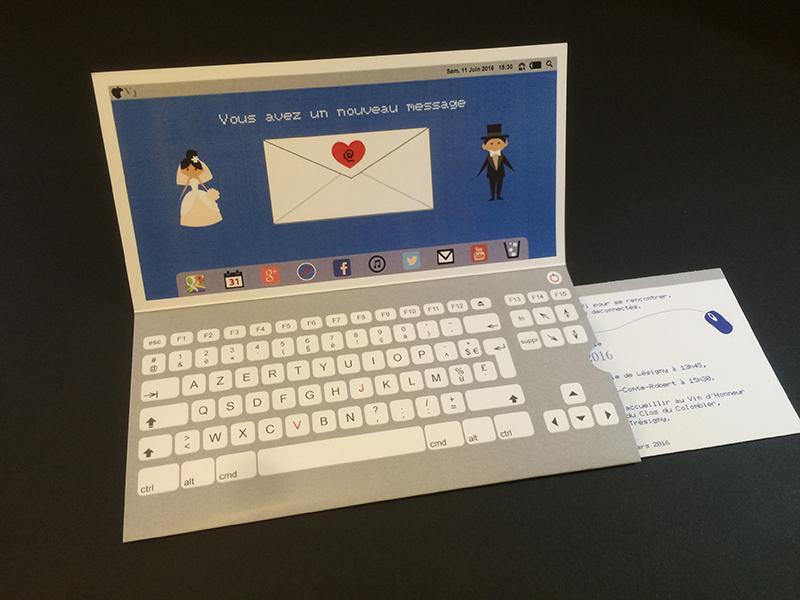 Exceptionnel Faire part de mariage Geek / Ordinateur – Imprimerie ICB KS31