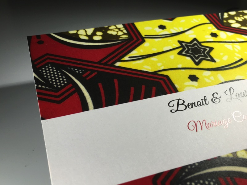 Exceptionnel Faire-Part de mariage Coutumier Afrique – Imprimerie ICB OJ68