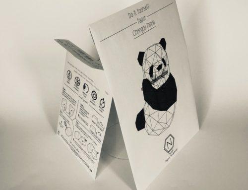 Pochettes C4 & C5 Paper Sculptures – Impression Noir Recto Verso – Panda & Lapin – @Nonitt