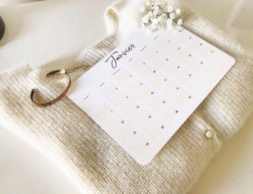 Mini calendrier 2019 angles arrondis – Pur Coton 350gr/m2
