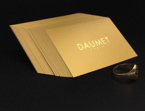 Carte de visite Gold is beautiful Bijoutier – Dorure à chaud OR Brillante sur Chromolux OR Mat