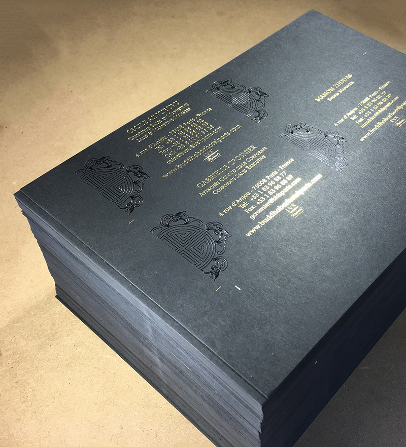 Carte De Visite Dorure Chaud Noir Et Or Imprimerie ICB