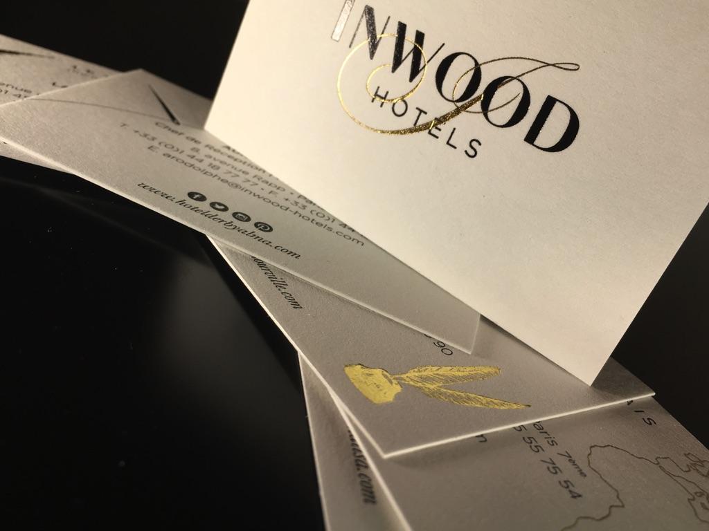 Cartes De Visite Luxe Hotels Dorure Chaud Or Noir Imprimerie ICB