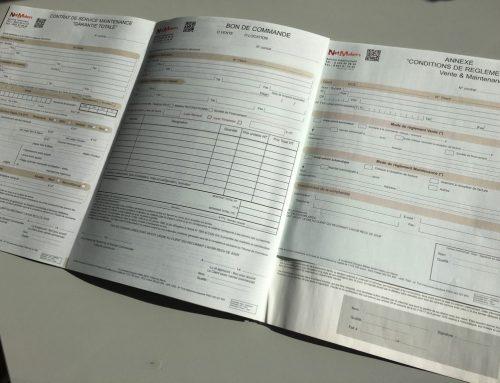 Contrat 3 volets avec liasses autocopiantes duplicata