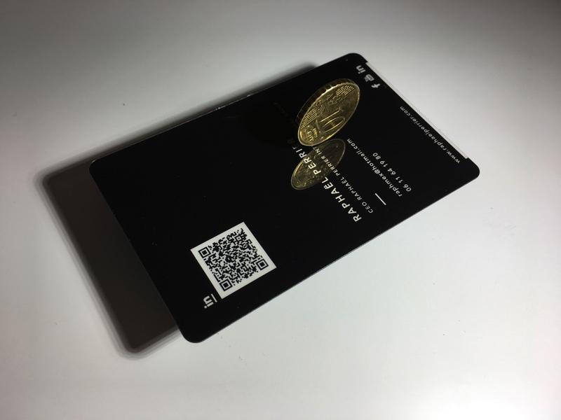 Carte De Visite PVC Noir Brillante