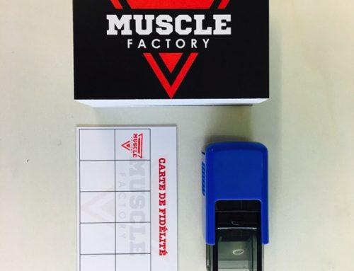 Kit Cartes de Fidélité et Tampon pour Salle de Sport @MuscleFactory