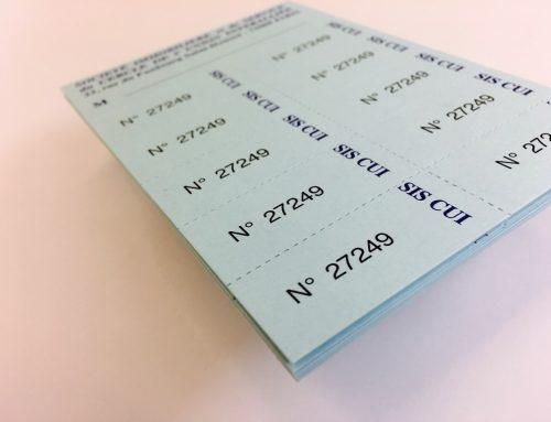 Carnet de tickets avec 10 coupons détachables – PopSet Skybleu et Perfos