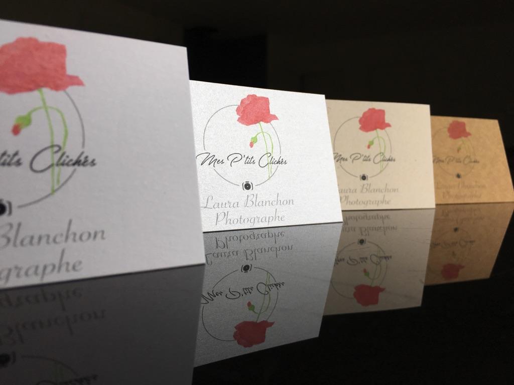Cartes De Visite Assorties Multi Papier Perles Akoya Kraft