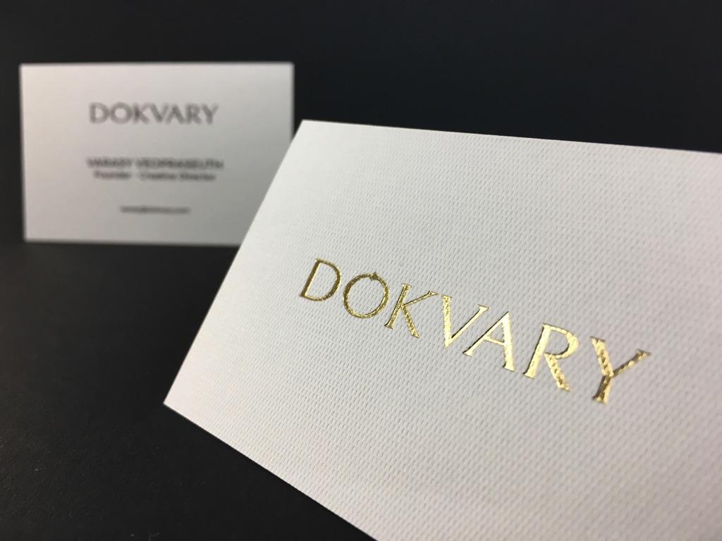 Carte De Visite Luxe Designer Dintrieur Dorure Chaud Sur Rives