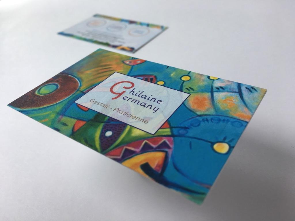 Carte De Visite Aquarelle Sur Papier Pur Coton 350gr M2 Imprimerie ICB