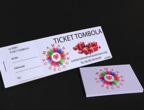 Carnet de Ticket Tombola Association – Perfo et souche