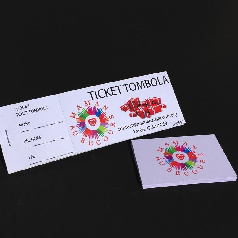 Carnet De Ticket Tombola Association Perfo Et Souche Imprimerie ICB