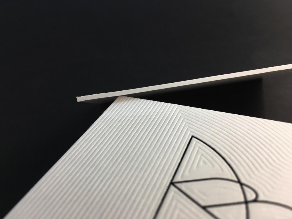 Cartes De Visite Luxe 15mm Dbossage Pur Extrme Imprimerie ICB