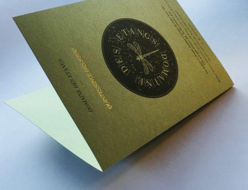 Plaquette Soins Pantone Offset et Dorure à chaud Or – Materica Verdigris 250gr/m2
