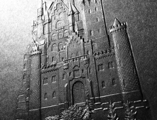 Gaufrage 3D sur papier noir – 3D Embossing
