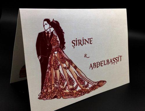 Faire-part de mariage Oriental papier texture lin – Opale toilé 250gr/m2