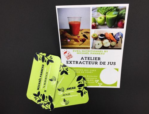 Flyers Et Cartes De Visite Nutritionnelles Decoupe Dangles Arrondis