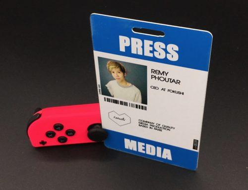 Badge media presse pour salon événementiel – sur mesure Pmma 1,6mm