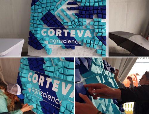 Fresque paper trophy participative Entreprise – Découpe laser – Curious Skin Indigo 270gr/m2 – Pop'Set Caraïbes 240gr/m2
