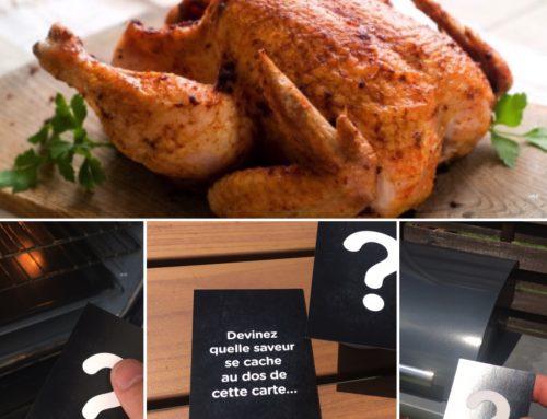 Impression Olfactive carte dossier de presse – Odeur poulet rôti