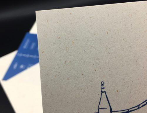 Papier de création recyclé avec poussière d'or