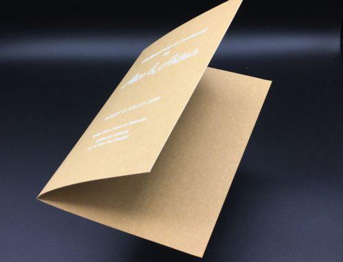 Couverture de livret de Messe Kraft impression blanche numérique