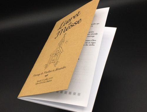 Livret de messe Champêtre – Impression Noire Kraft Naturel 350gr/m2