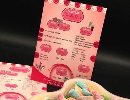 Flyers acidulés pour candy bar – Couché Mat 350gr/m2
