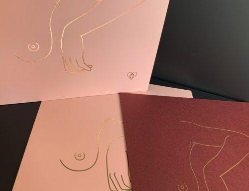Cartes d'illustrations sensuelles – Dorure numérique sur Woodstock Cipria 290gr/m2