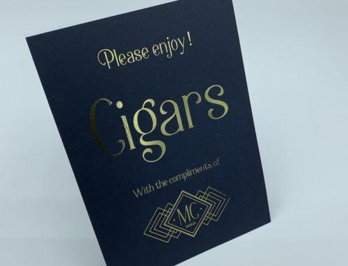 Carte Cave à Cigars pour mariage en dorure numérique Or – Sirio Dark Blue 290gr