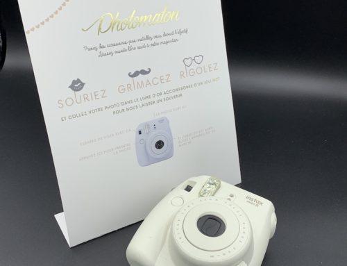 Carte de mariage coin Photomaton polaroïd – Couché mat 350gr/m2
