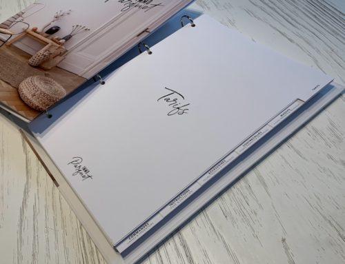 Catalogue classeur sur mesure – Découpe d'onglets – Création Pack 350gr/m2