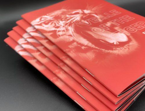 Brochure Marketing Tiger 2 pics métal avec couverture Soft Touch