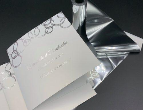 Faire-Part de mariage Bulles Argent – Curious Metallics Perle Fine – Dorure numérique Argentée