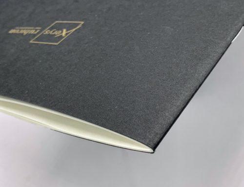 Rapport d'activité Qatar Pantone Or 871U sur papier Colorplan Ebony black – 2 pics métal