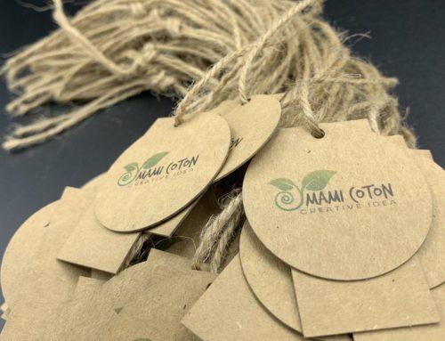 Etiquettes vêtements éco-responsables – Découpe laser papier Kraft 350gr/m2