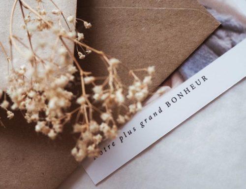 Faire-part de naissance garçon avec pelliculage Soft Touch & enveloppes Kraft carrées