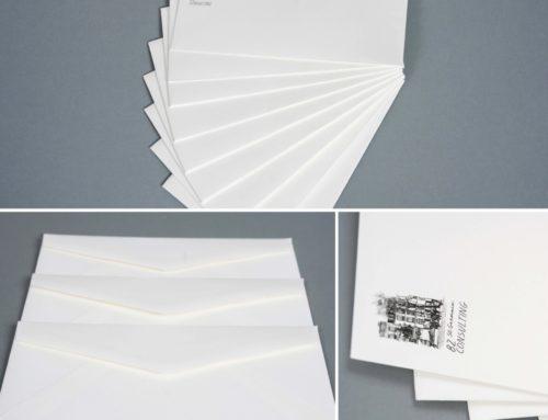 Enveloppes DL papier Colorplan White Frost 135gr/m2 avec patte pointue – Impression numérique Noir