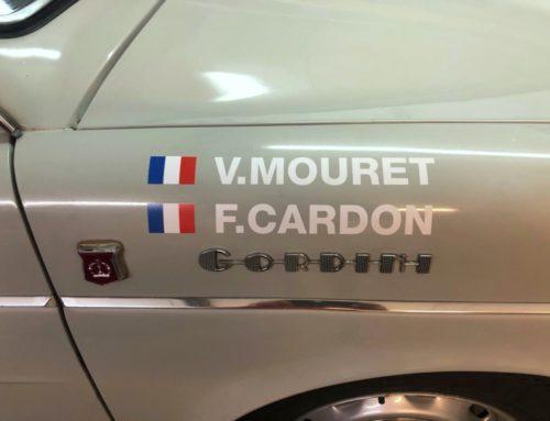 Lettrage adhésif sous transfert pour noms de pilote voiture rallye de france