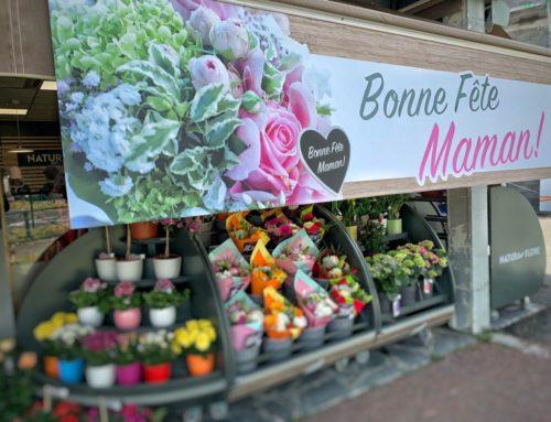 Bâche fête des mères avec foureau soudé 3m pour store banne Fleuriste