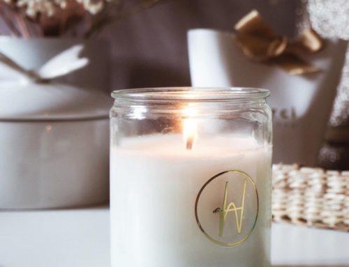 Etiquettes transparentes ronde pour bougie avec dorure or brillante – Cadeau invité mariage