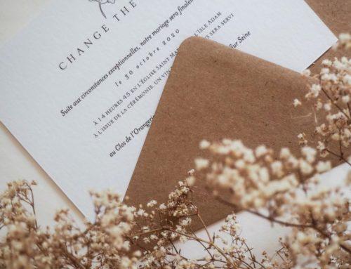 Change the Date Rose impression noir sur papier Création Pack 350gr avec enveloppes patte pointue Kraft