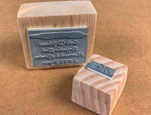 Tampon en bois pour mariage sur mesure avec Adresse et Merci