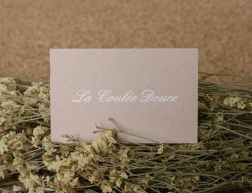Carte restaurant de charme sur papier recyclé Freelife Kendo 300gr/m2