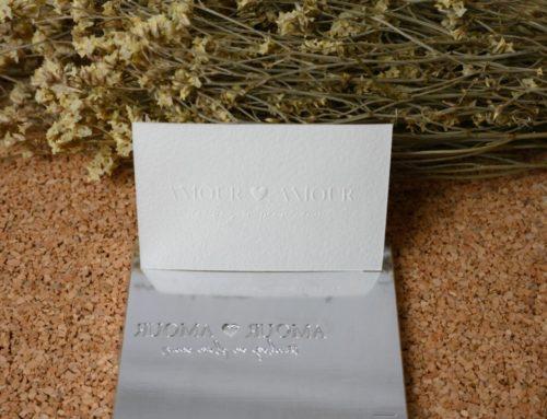 Carte plaisir d'offrir en gaufrage – Papier velin d'arches 100% coton – Cliché en Magnésium