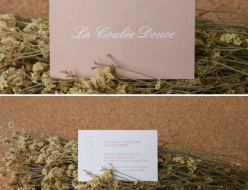 Carte de visite pour restaurant Breton – Papier recyclé à base de chanvre – Freelife Kendo 300gr/m2