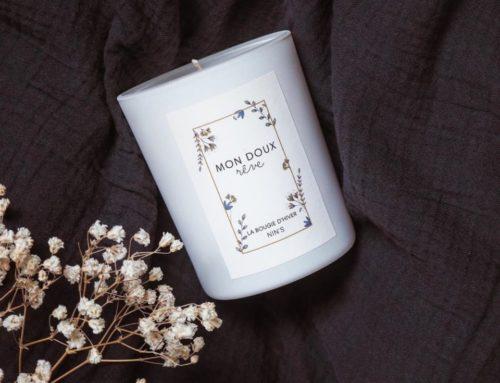 Etiquette personnalisé pour bougie parfumé – Adhésif Velin