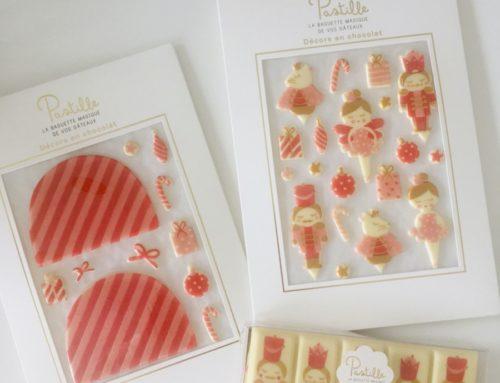 Pochettes pour décorations chocolat chic – Olin 400gr/m2 – Découpe à forme et Marquage à chaud traditionnel Or Brillant