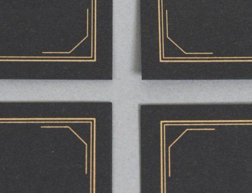 Carte de visite cocktelier en Pantone Or 871 sur un Sirio Black Black 290gr/m2