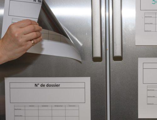 Affiche atelier sur papier magnétique avec pelliculage brillant
